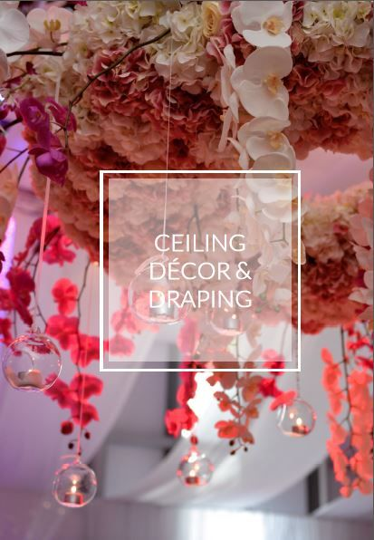 ceiling decor and draping ideas