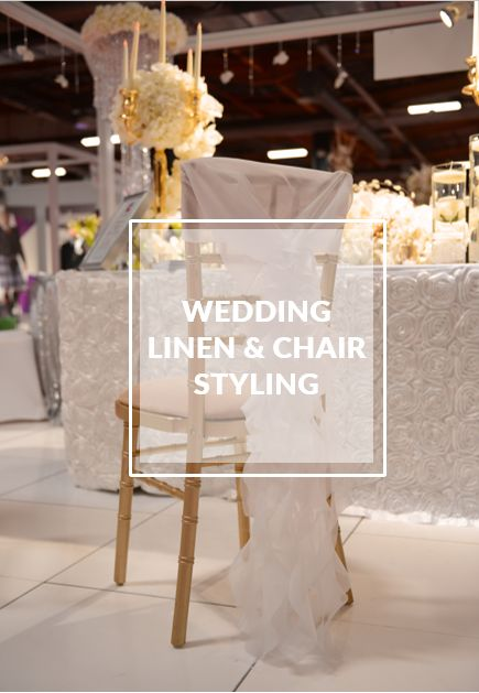 wedding linen and chair styling ideas