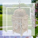 Outdoor decorations with lantern
